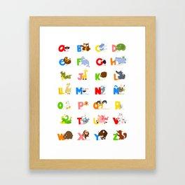 ABC (spanish) Framed Art Print
