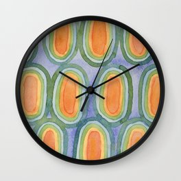 Ovals In Front Of The Sky Wall Clock
