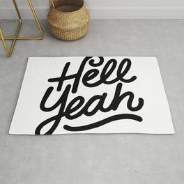hell yeah X typography Rug