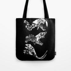 Prehistoric Bloom (Black version) Tote Bag