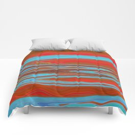Abstract Retro Lava Water Deep Earth Landscape Comforters