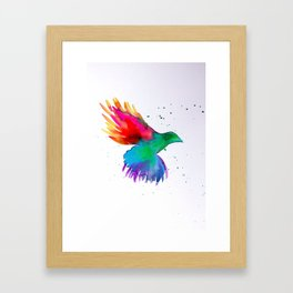 Rainbow watercolor Framed Art Print