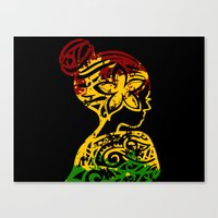 rasta Canvas Prints featuring Rasta Lady by Lonica Photography & Poly Designs