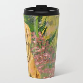 """Maddie"" Golden Retriever Dog in Mountain Meadow Travel Mug"