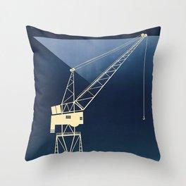 Southampton Docks Travel Poster Throw Pillow