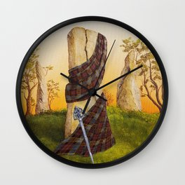 Through the stones Wall Clock
