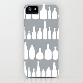 Bottles Grey iPhone Case