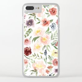 Waterolor florals Clear iPhone Case