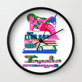 little wit in the head makes much work for the feet Wall Clock