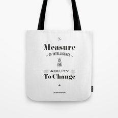 Einstein Quote, words of wisdom Tote Bag