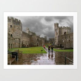 Stormy Day In Whales Art Print
