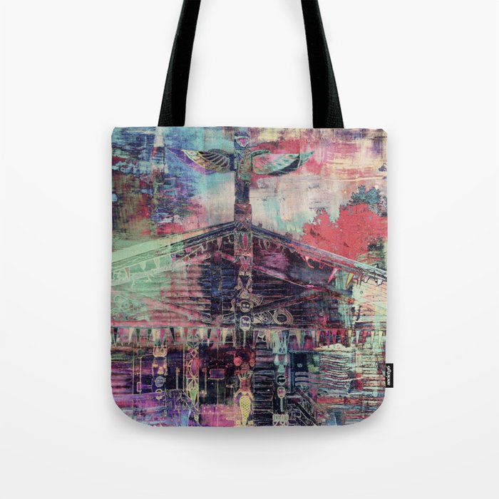 Totem Cabin Abstract - Multi Tote Bag