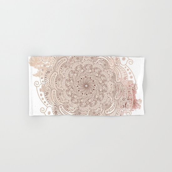 Round ornament Hand & Bath Towel