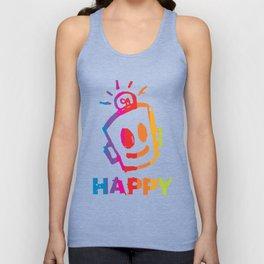 HAPPY  Stripes Unisex Tank Top