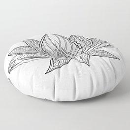 Lotus Line Drawing Floor Pillow