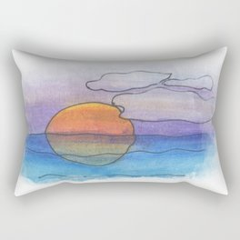 Sunset Dreaming - Watercolor Design Rectangular Pillow