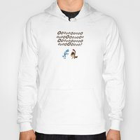 regular show Hoodies featuring Regular Show - Mordecai and Rigby by Joel Jackson
