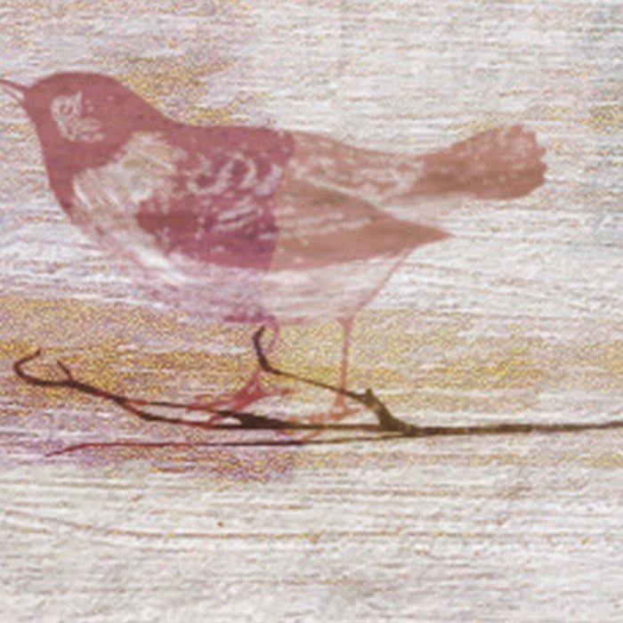 Golden Pink Birds Leggings