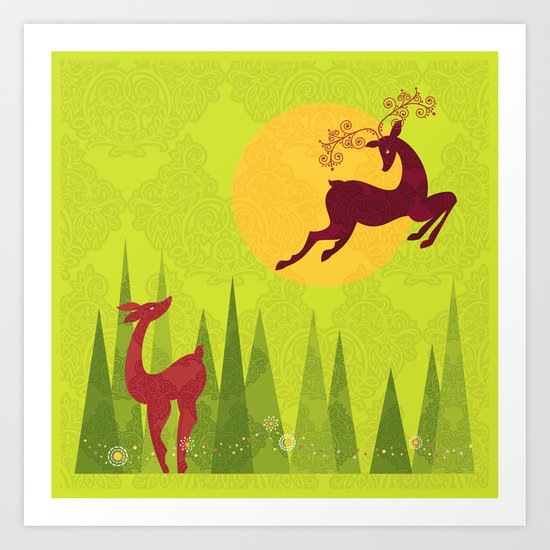 Forest Love Art Print