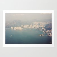 hong kong Art Prints featuring Hong Kong by Stephanie Dana