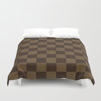 lv Duvet Covers featuring LV pattern style by aleha