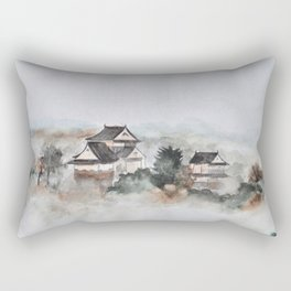 Japanese ancient city in fogging day Rectangular Pillow