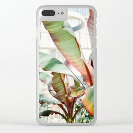 Botanical photography | Green tropical plants in the botanical garden of Dublin | Green / red Clear iPhone Case