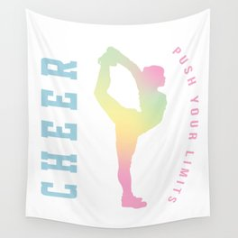 Push your limits pastel Wall Tapestry