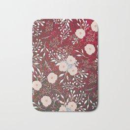 Red Gypsy Sparkle | Chic Floral | Confetti Flowers Bath Mat