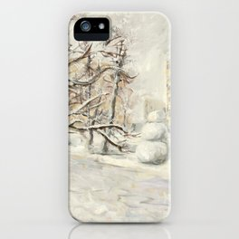 Walk in Winter Park iPhone Case