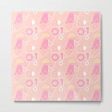 Graze Maze Peach Metal Print