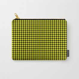 Mini Black and Bright Yellow Cowboy Buffalo Check Carry-All Pouch