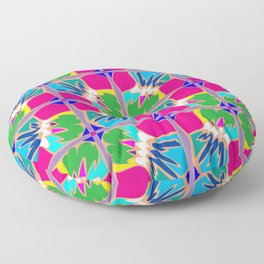 Tropical Shapes Pink Floor Pillow