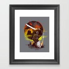 ink kata Framed Art Print