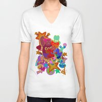 gravity falls V-neck T-shirts featuring Gravity Falls Gal Party by Idleshop