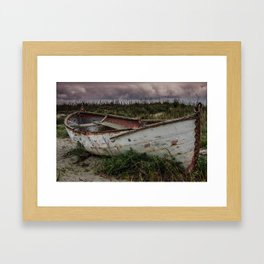 Beached Boat Framed Art Print