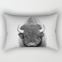Buffalo - Black & White Rectangular Pillow