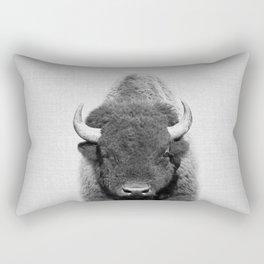 Buffalo - Black & White Rectangular Pillow