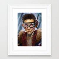 pilot Framed Art Prints featuring Pilot by Shoko Lam