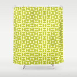 HALF CIRCLES, CHARTREUSE Shower Curtain