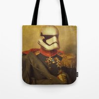 stormtrooper Tote Bags featuring Stormtrooper  by Alex Malyon