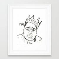 biggie Framed Art Prints featuring Biggie by Creen