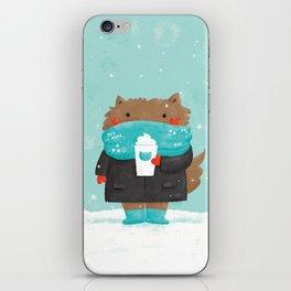 Winter Cat iPhone Skin