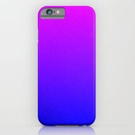 Pink Purple Blue Ombre Flames iPhone Case