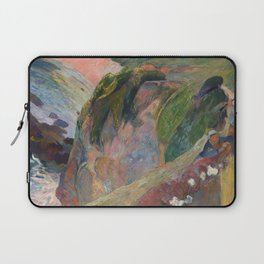 The Flageolet Player on the Cliff by Paul Gauguin Laptop Sleeve