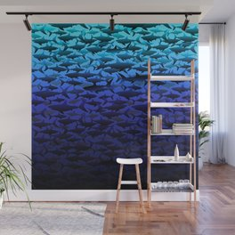 Sharks In The Deep Blue.. Wall Mural