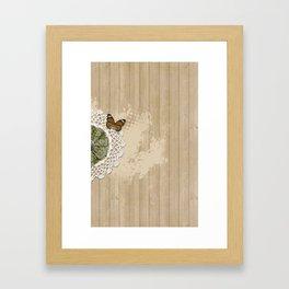 Butterfly on my wall Framed Art Print