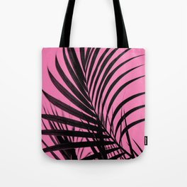 Simple palm leaves paradise with pink Tote Bag