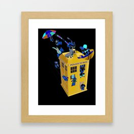 The Corgis Have the Phone Box Framed Art Print