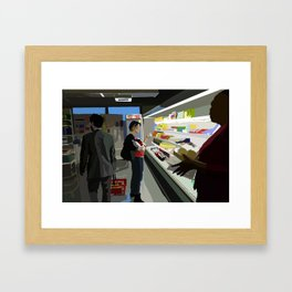 People of the Economat Framed Art Print
